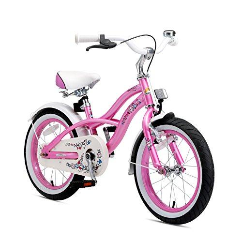 Bikestar | Bicicleta para niños y niñas 16 Pulgadas | Color Rosa | A Partir de 4 años | 16' Edición Cruiser 2018