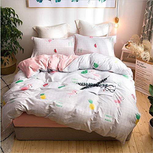 SHJIA Bettwäsche aus ägyptischer Baumwolle Set Bettbezug Bettlaken Kissenbezug Queen King Size C 150x200cm -