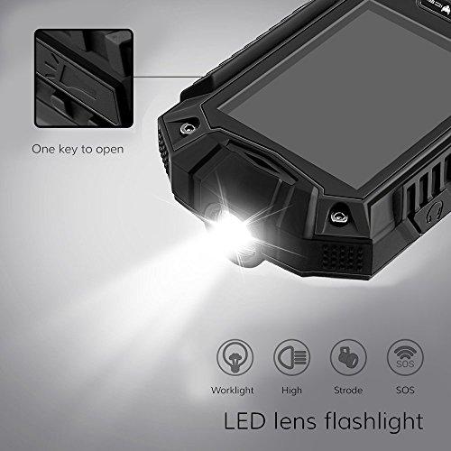IceFox (TM) Dual Sim Outdoor Handy,2,4 Zoll Display,IP68 Wasserdicht,Stoßfest, Rugged Handy Ohne Vertrag mit Lautem Lautsprecher und Fahrradlicht - 5