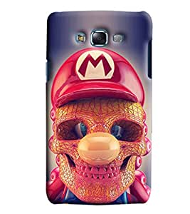 Blue Throat Skeleton Face With Red Hat Printed Designer Back Cover/Case For Samsung Galaxy J7