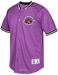"Toronto Raptors Mitchell & Ness NBA ""Seasoned Pro"" Men's Button Up Jersey Maillot Shirt Chemise"