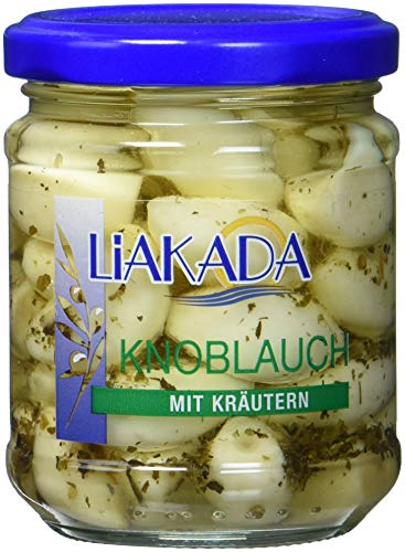 Liakada Knoblauch in Öl mit Kräutern, 8er Pack (8 x 190 g)