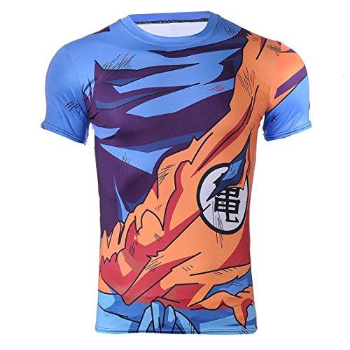 CoolChange Drachenball Super Saiyajin T Shirt, Größe: S (Dragon Ball Z T Shirt Kostüm)