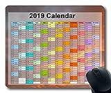 Tapis de Souris Calendrier 2019, Tapis de Souris Nouvel an, Tapis de Souris Gaming