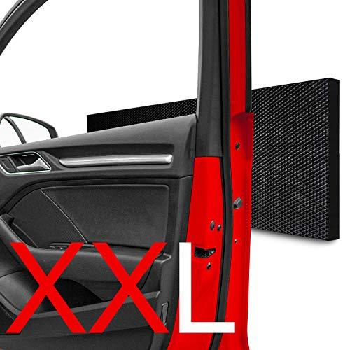 STRACKS 4x XXL Garagen Wandschutz 43x15cm - 15mm Dicke - Türkantenschutz Auto, Schaumstoff selbstklebend - 4er Set - selbstklebende Autotür Kantenschutz garagen Protectoren - Karo Design