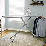 Sasimo International Quality Extra Large Foldable Gray Wide Steel Top Freestanding Ironing Board with Multi-Function Ironing