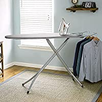 Sasimo International Quality Extra Large Foldable Gray Wide Steel Top Freestanding Ironing Board with Multi-Function…