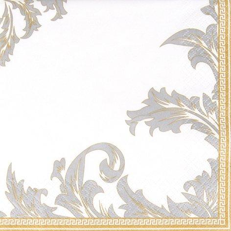 gold/silver - Ornamente edel gold/silber -Zeitlos/Gold- oder Silberhochzeit 33x33cm ()