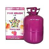 Helium Ballongas Heliumflasche 250 Liter, Befüllen von bis zu 30 Luftballons mit einem Durchmesser von 23cm - leichtes Befüllen durch Knickventil - perfekt für Party, Hochzeit, Feier, Geburtstag