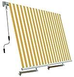 Zelt von sonne für balkon mit zum system fallen Weiß/GELB 250x250 cm PAPILLON