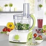GOURMETmaxx Multifunktionale Küchenmaschine mit 3 verschiedenen Einsätzen zum Mixen, 1 L, 350 W, grün