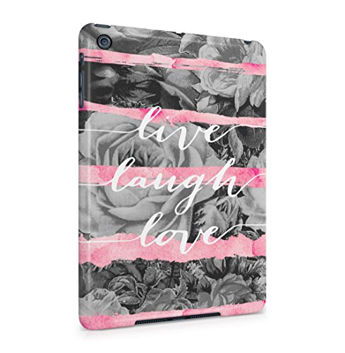 live-laugh-love-pink-watercolor-stripes-rose-blossoms-hard-thin-plastic-tablet-case-cover-for-ipad-m