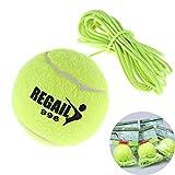 Schneespitze 5Pcs Tennisball mit Schnur,ElastischerTennisball,Trainingsball mit Schnur,Twistball Schläger Swingball,Tennis mit Seil Trainieren,Grün