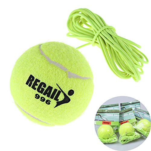 Schneespitze 5Pcs Tennisball mit Schnur,ElastischerTennisball,Trainingsball mit Schnur,Twistball Schläger Swingball,Tennis mit Seil Trainieren,Grün -