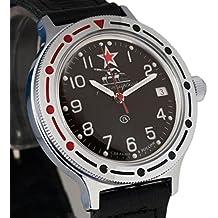 Vostok # 921306KOMANDIRSKIE mecánico automático ruso muñeca reloj 2416b