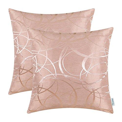 Kissenbezüge, Kissenhülle CaliTime 2 Stück Kissen Werfen Kissen Abdeckungen Fälle Schutz Muscheln zum Couch Sofa Schlafzimmer Zuhause Weihnachten Dekor