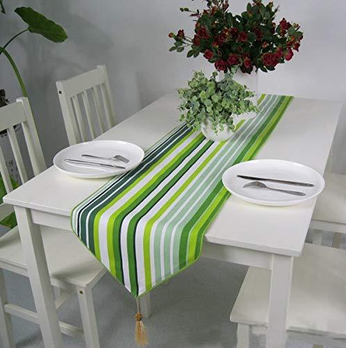 Home Decent Gadget stilvolle Klassische Baumwolle und Leinen Tischläufer for Dinning Raum/Party/Feiertags-Dekoration Home (Color : Green, Size : 35X180cm)