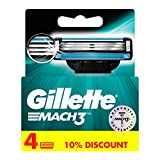 Gillette Mach 3 Cartridges  Pack of 4