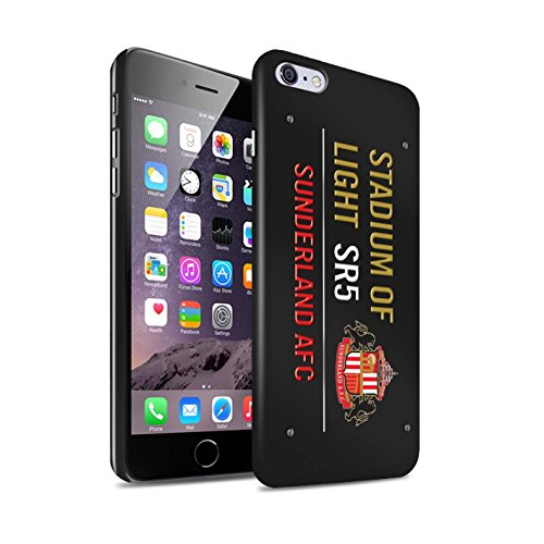 Officiel Sunderland AFC Coque / Clipser Brillant Etui pour Apple iPhone 6S+/Plus / Pack 6pcs Design / SAFC Stadium of Light Signe Collection Noir/Or