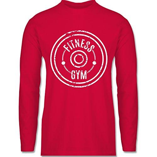 Shirtracer CrossFit & Workout - Fitness Gym - Herren Langarmshirt Rot