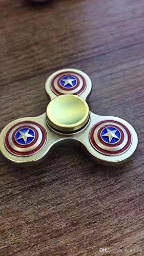 Preisvergleich Produktbild Captain America Hand Spinner solid Metal Tri-Spinner Fidget Toys Silver