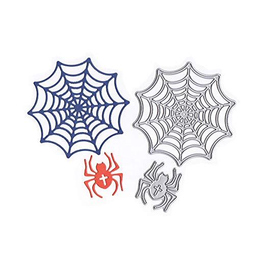 Metall Stanzmaschine Stanzschablone, Katc Scrapbooking Prägeschablonen Stanzformen Schablonen, für Sizzix big shot/Cuttlebug / und andere Embossing Machine(Halloween Spider)