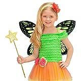 NET TOYS Kinder Schmetterlingsflügel Elfenflügel grün-schwarz Feenflügel Kind Tinkerbell Flügel Fee Schmetterling Elfe Feenkostüm Märchen Kostüm Accessoire