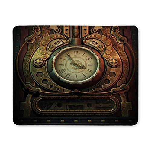 Luancrop Coole 3D Vintage alte Uhr im Steampunk-Stil Rechteck rutschfeste Gummi Mousepad, Gaming Mouse Pad Mauspad für Office Home Frau Mann Mitarbeiter Chef Arbeit (Uhr Alten Stil)