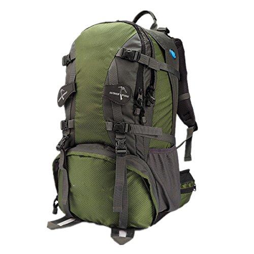 Outdoor Bergsteigen Tasche Camping Wasserdicht Reise Rucksack,LightGreen60L Green50L