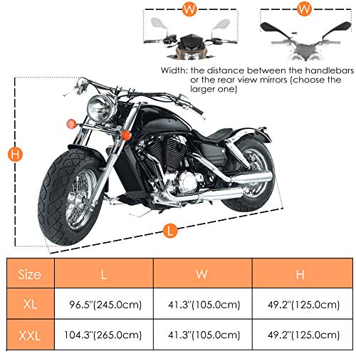 c483d1a6f91 COFIT Funda para Moto, Cubierta de Motoa Impermeable, Anti Viento Polvo UV.