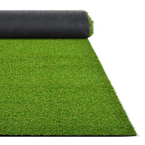 Floordirekt Kunstrasen Riviera | Höhe: 14 mm Rasenteppich Balcon Outdoor Teppich (100 x 100 cm)