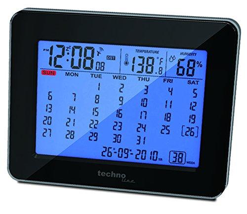 Technoline Digitaler Kalender WT 2500 mit Funkuhr, Innentemperaturanzeige und Innenluftfeuchteanzeige