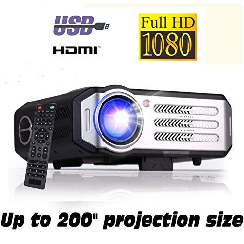 Full HD 1080P Beamer XSAGON (2019 NEU) Projektor maximale Helligkeit LED 1920x1080, 200