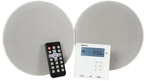 Adastra WA-210-SET - Amplificador de Pared y Altavoz de Techo con Bluetooth