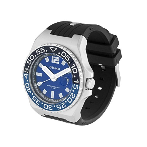 OTUMM Herren-Armbanduhr Marina Analog Quarz Silikon 01834