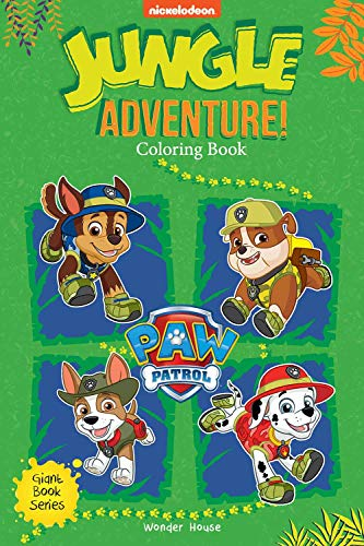 Jungle Adventure! : Paw Patrol Giant Coloring Book For Kids