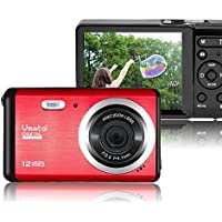 Vmotal GDC80X2 Mini Compact Digital Camera 12 MP HD 3.0 Inch TFT LCD Screen for Children / Beginners / Elderly (Red & Black)