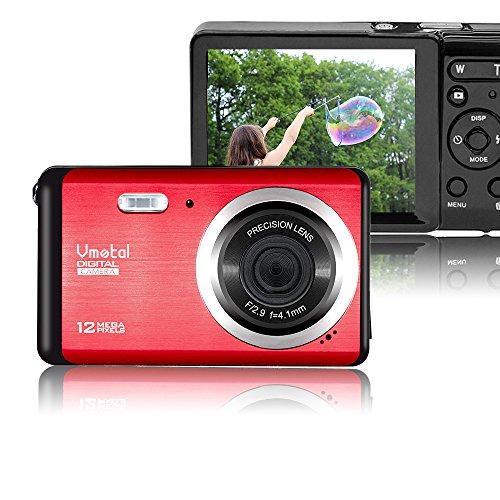 Vmotal GDC80X2 Mini Appareil Photo numérique Compact 12 MP HD 3,0 Pouces TFT LCD pour Enfants/débutants / Personnes âgées Cadeau de Noël (Rouge & Noir)