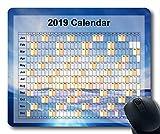 Yanteng Calendario 2019, Alfombrillas de ratón, Alfombrilla de ratón, Cielo Estrellado, Galaxia, Alfombrilla de Juego