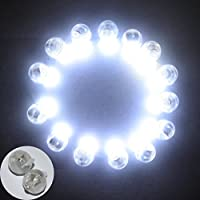 MENGCORE® 100PCS/pack LED Round Party Balloon Lights Non-Blinking Lights For Paper Lanterns Balloons Floral party Wedding Decorations last for 24 hours