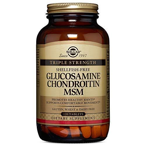 Solgar | Glucosamine Chondroitin MSM | dreifache Stärke | 120 Tabletten | vegan und glutenfrei