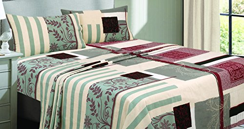 Livingston Home Livingston Fadendichte 300 bedruckten Bogens, Lobstah, Kilim, Queen - Ralph Lauren-cover-set