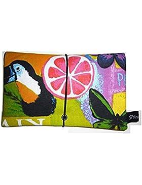 Büroteuse Tabaktasche / Drehertasche im buntem Summer-Summer Design, jede Tasche ein Unikat!