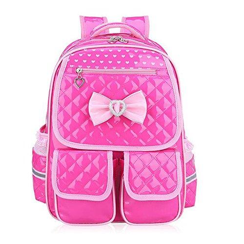 Comfysail PU Leder Prinzessin Style Kinderrucksäcke Rucksack für Mädchen (Rose)