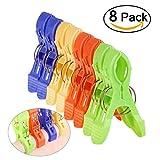 NUOLUX 8ST Wäscheklammern Groß Bright Color Kunststoff Strandtuch von Quilt Clips Clips