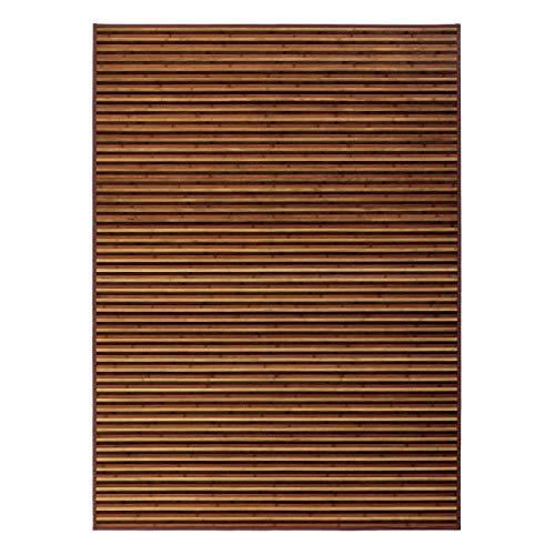 LOLAhome Arabia - Alfombra de bambú para salón, Marrón, 180 x 250 cm