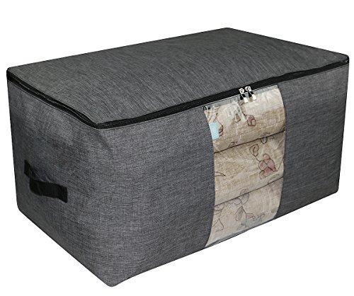 iwill CREATE PRO Jumbo-Größe (65 * 40 * 35 cm) Wasserdichte Aufbewahrungsbox für Garderobe, Dunkelgrau -