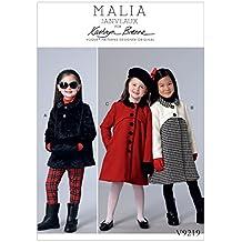 Vogue Patterns 9219CCE niños/de niña abrigo y abrigo patrones de costura, tejido, multicolor, tamaños 3–6