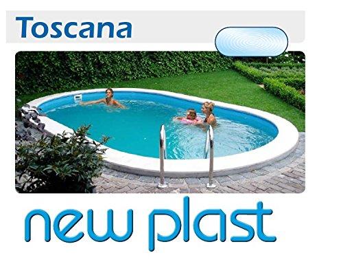 New Plast Piscine.New Plast Piscine Poreux Ovale Kit Toscana 600 H 150