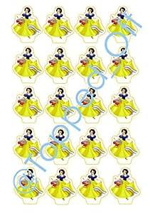 20 Snow White - Essbare Kuchen-Deckel Dekorationen